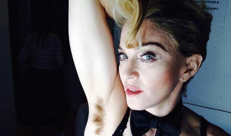 Madonna's Unshaved Armpits- feminism in a nutshell