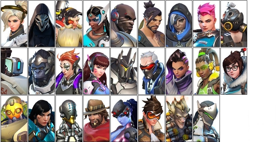 Overwatch diverse videogame characters