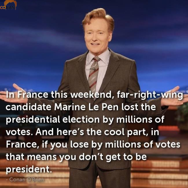 In France If You Lose By Millions Of Votes....