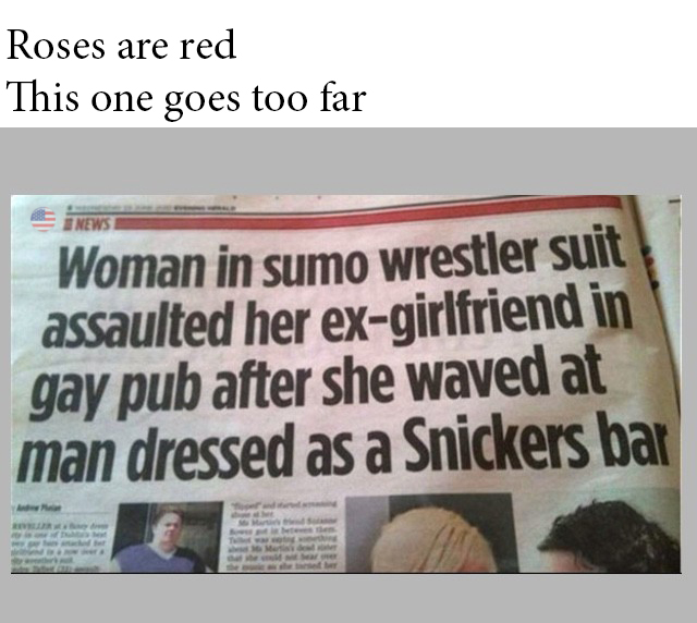 Roses Are Red, This One Goes Too Far...
