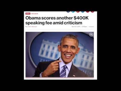 Obama's Getting 400K Per Speech... Just Like Every Other Former President